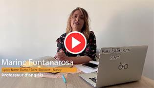 École à la maison : Marine Fontanarosa, professeur d'Anglais au lycée Saint Sigisbert – Nancy